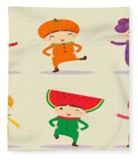 Happy Children  Fleece Blanket