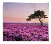 Heather At Sunset  Fleece Blanket