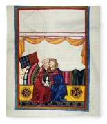 Heidelberg Lieder, 14th C Fleece Blanket