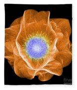 Hellebore Flower, X-ray Fleece Blanket
