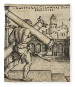Hercules Carrying The Columns Of Gaza Fleece Blanket