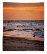 2 Herons On The Beach Fleece Blanket