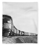 Historic Freight Train Fleece Blanket