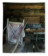 Historic Log Trappers Cabin Fleece Blanket