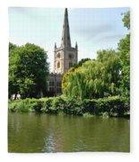 Holy Trinity Church At Stratford-upon-avon Fleece Blanket