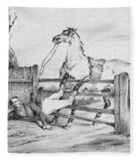 Horserider, C1840 Fleece Blanket