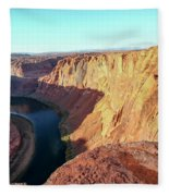 Horseshoe Bend Colorado River Arizona Usa Fleece Blanket