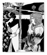 How Morgan Le Fay Gave A Shield To Sir Tristran Fleece Blanket