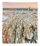 Ice On Branches Fleece Blanket