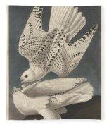 Iceland Or Jer Falcon Fleece Blanket