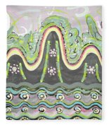 Ilwolobongdo Abstract Landscape Painting2 Fleece Blanket