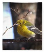 Img_0001 - Pine Warbler Fleece Blanket