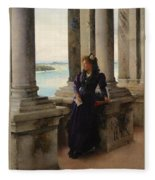 In The Belfry Of The Campanile Of St Marks Venice Henry Woods Fleece Blanket