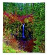 Indian Canyon Waterfall Fleece Blanket