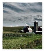Iowa Farmstead Fleece Blanket