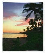 Island Sunset Fleece Blanket