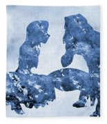 Jane And Tarzan-blue Fleece Blanket