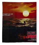 Jaws 2 1978  Fleece Blanket