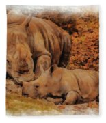 Jazi And Mom Fleece Blanket