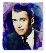 Jimmy Stewart, Vintage Movie Star Fleece Blanket