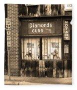 Johnson City Tennessee - Gun Shop Fleece Blanket