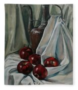 Jug With Apples Fleece Blanket