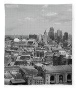 Kansas City Skyline Fleece Blanket