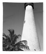 Key Biscayne Lighthouse Fleece Blanket
