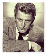 Kirk Douglas, Vintage Actor Fleece Blanket