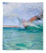 Kitesurfing Fleece Blanket