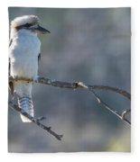 Kookaburra On A Branch Fleece Blanket