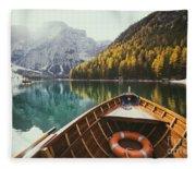 Lago Di Braies Fleece Blanket