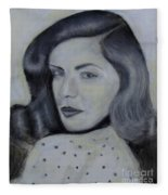 Lauren Bacall Fleece Blanket