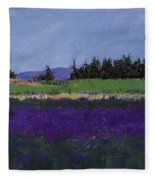 Lavender Farm Fleece Blanket