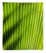 Leaf Close-up Fleece Blanket