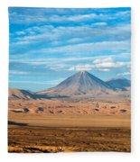 Licancabur Volcano View Fleece Blanket