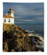 Lime Kiln Lighthouse Fleece Blanket