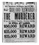 Lincoln Assassination Fleece Blanket