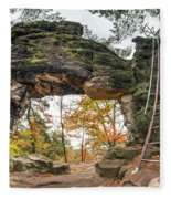 Little Pravcice Gate - Famous Natural Sandstone Arch Fleece Blanket
