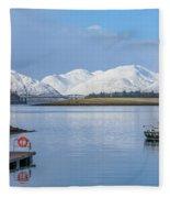 Loch Leven - Scotland Fleece Blanket
