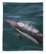 Long-beaked Common Dolphins In Monterey Bay 2015 Fleece Blanket