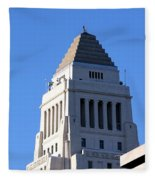 Los Angeles City Hall Fleece Blanket
