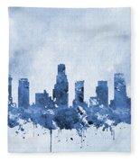 Los Angeles Skyline-blue Fleece Blanket