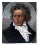 Ludwig Van Beethoven, German Composer Fleece Blanket