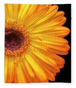 Macro Shot Of Flower Fleece Blanket