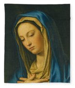 Madonna At Prayer Fleece Blanket
