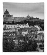 Madrid Panorama From Debod Lookout Madrid Spain Fleece Blanket