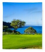 Makena Golf Course In Makena Area Fleece Blanket