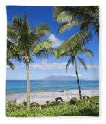 Makena, Maluaka Beach Fleece Blanket