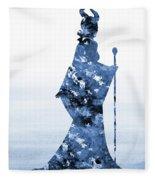 Maleficent-blue Fleece Blanket